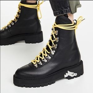 Off-White Boots Black Leather 11 New